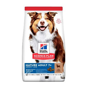 Hills Science Plan Canine Active Longevity Mature Adult 7+ Medium - Lamb with Rice